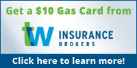 TW Insurance Brokers Gas Card Offer banner